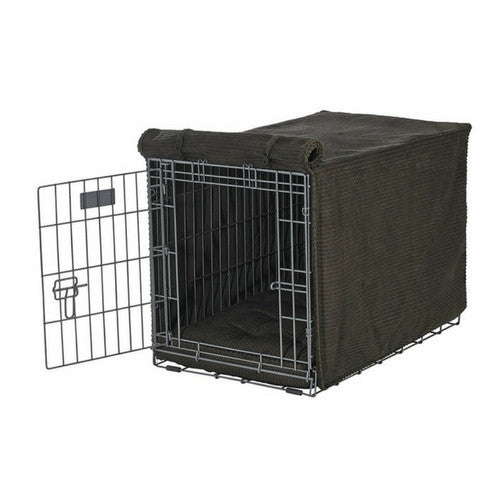 Bowsers Pet Products MicroCord Luxury Dog Crate Cover — Coffee Brown