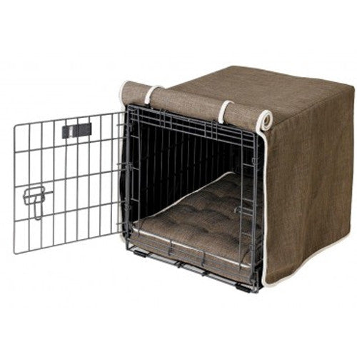 Bowsers Home Decor MicroLinen Luxury Dog Crate Cover — Driftwood
