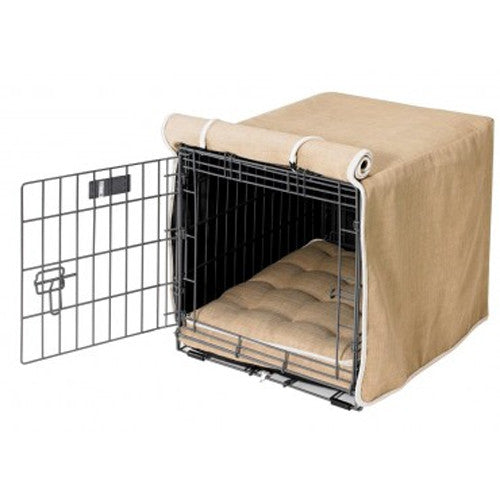 Bowsers Home Decor MicroLinen Luxury Dog Crate Cover — Flax