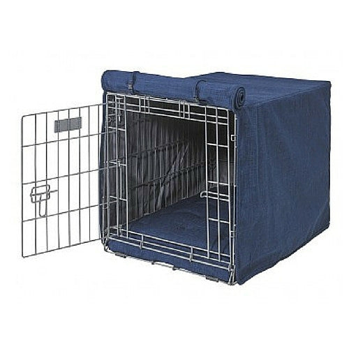 Bowsers Pet Products MicroLinen Luxury Dog Crate Cover — Midnight
