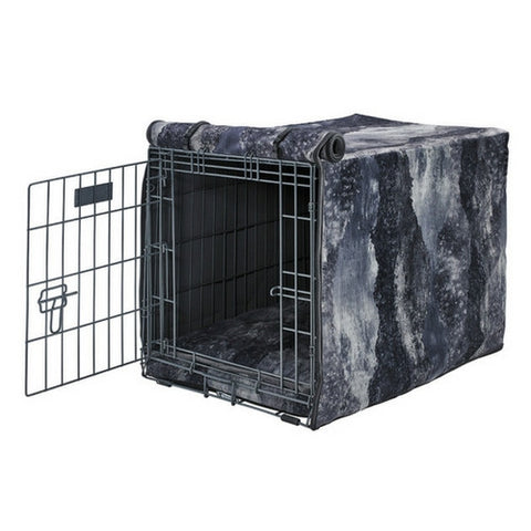 MicroVelvet Luxury Dog Crate Cover — Nightfall