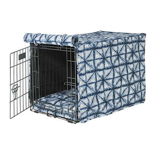 Bowsers Pet MicroVelvet Luxury Dog Crate Cover — Shibori