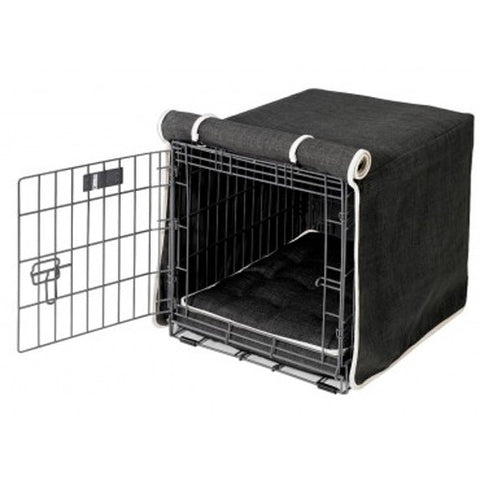 MicroLinen Luxury Dog Crate Cover — Storm