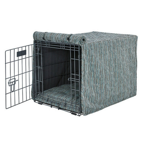 Chenille Luxury Dog Crate Cover — Teaka
