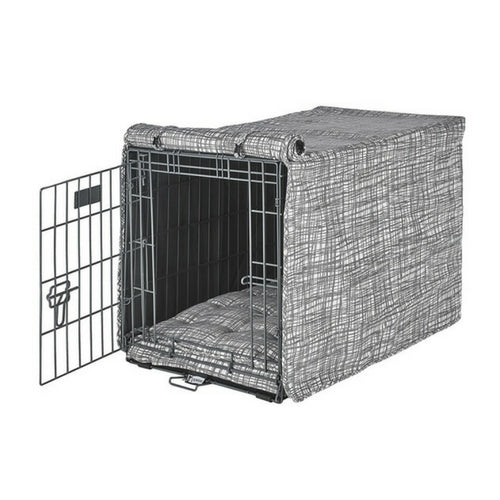 Bowsers Pet Micro Jacquard Luxury Dog Crate Cover — Tribeca Beige