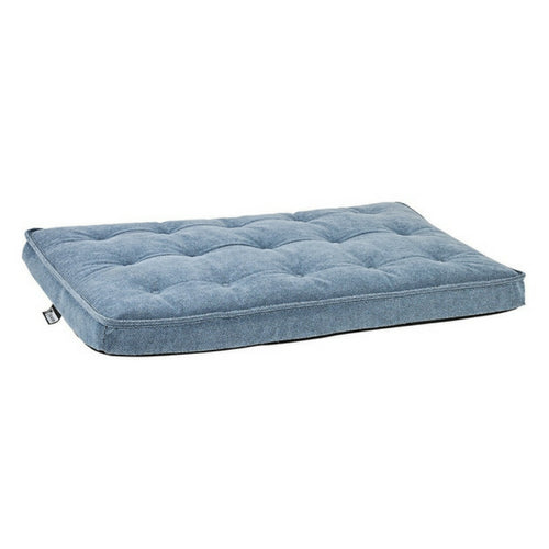 Bowsers Pet MicroVelvet Luxury Dog Crate Mattress Pad — Bluestone