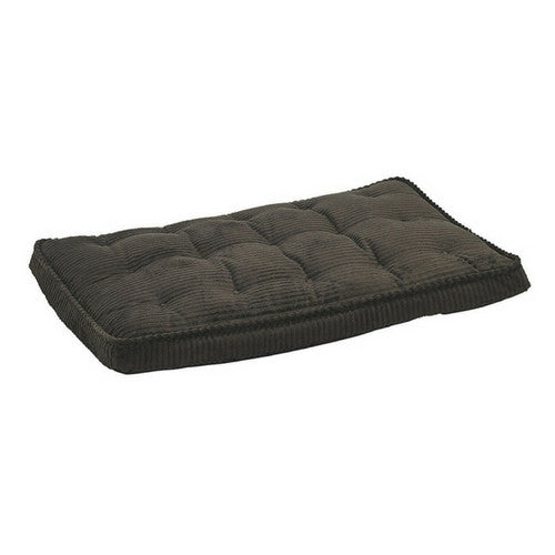 Bowsers Pet MicroCord Luxury Dog Crate Mattress Pad — Coffee Brown