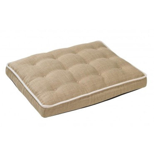 Bowsers MicroLinen Luxury Dog Crate Mattress Pad Bed — Flax