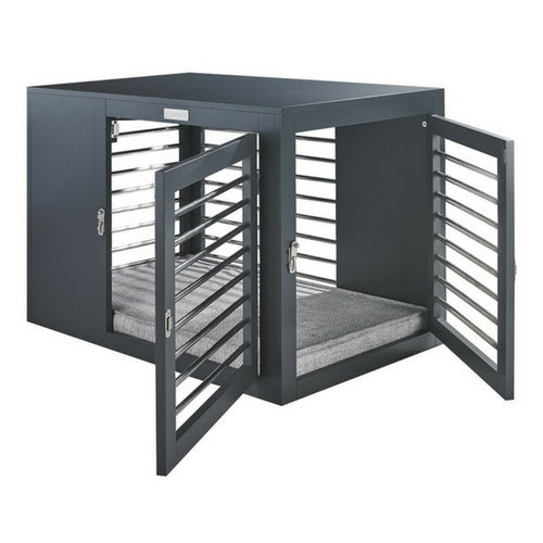 Bowsers Pet Products Moderno Contemporary Dog Crate Double Entry View