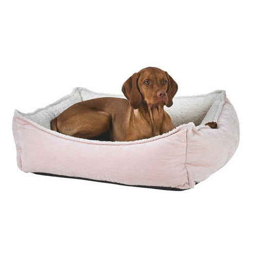 Bowsers Oslo Ortho Cool Gel Memory Foam Nesting Dog Bed — Blush with Dog