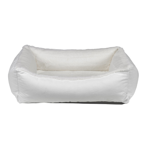 Bowsers Oslo Ortho Memory Foam Nesting Dog Bed — Winter White Dream Fur