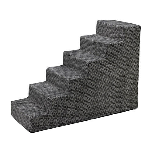 Bowsers Pet Products Dog Foam Six Steps Stairs — Pewter Bones