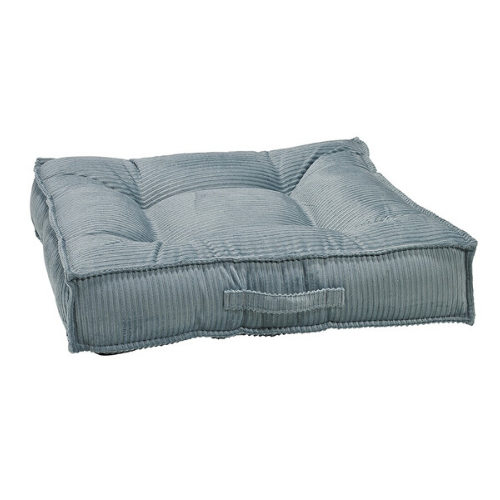 Bowsers MicroCord Tufted Square Piazza Nesting Dog Bed — Bayou Blue