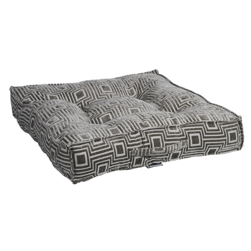 Bowsers Jacquard Tufted Square Piazza Nesting Dog Bed — Cafe au Lait