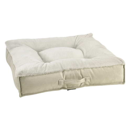 Bowsers Tufted Square Piazza Nest Dog Bed — Dream Fur Cloud + Granite