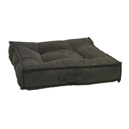 Bowsers MicroCord Tufted Square Piazza Nesting Dog Bed — Coffee Brown