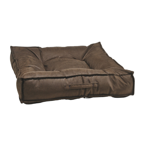 Bowsers MicroVelvet Tufted Square Piazza Nesting Dog Bed — Cowboy