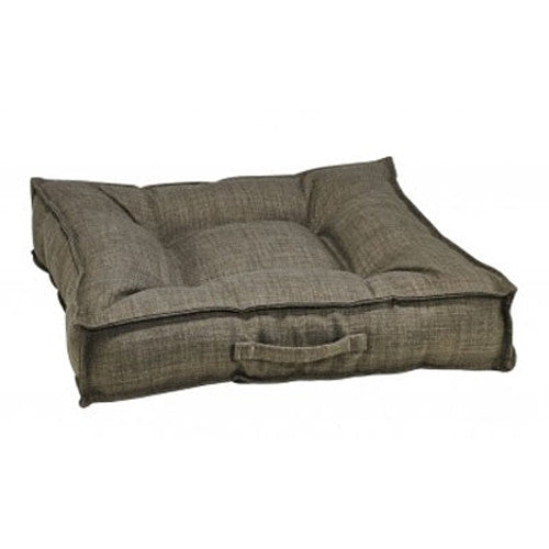 Bowsers MicroLinen Tufted Square Piazza Nest Dog Bed — Driftwood