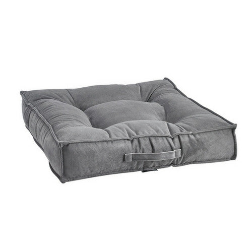 Bowsers MicroVelvet Tufted Square Piazza Nesting Dog Bed — Dusk