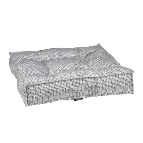 Bowsers Pet Chenille Tufted Square Piazza Nesting Dog Bed — Glacier