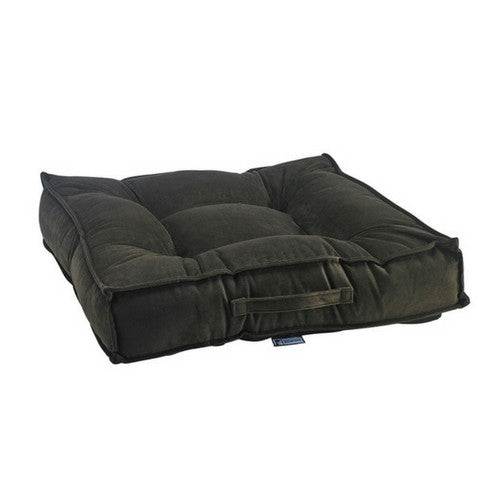 Bowsers MicroVelvet Tufted Square Piazza Nesting Dog Bed — Hickory