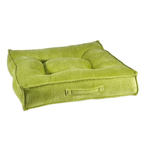 Bowseres Pet Products MicroVelvet Square Piazza Dog Bed — Key Lime