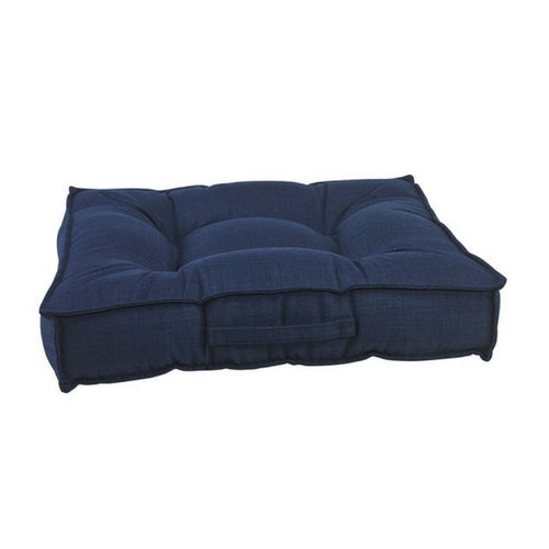Bowsers MicroLinen Tufted Square Piazza Nest Dog Bed — Midnight