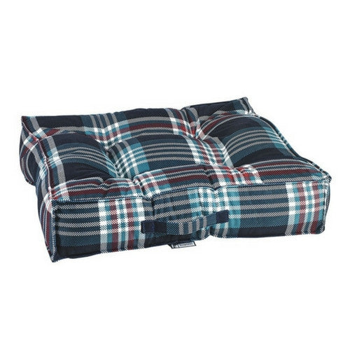 Bowsers MicroVelvet Tufted Square Piazza Dog Bed — Glen Meadow Tartan