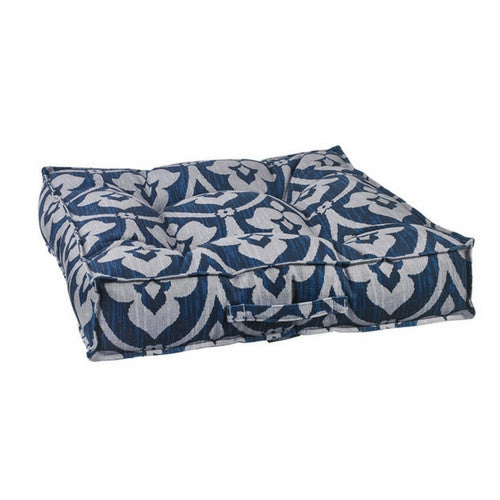 Bowsers MicroVelvet Tufted Square Piazza Nesting Dog Bed — Regency