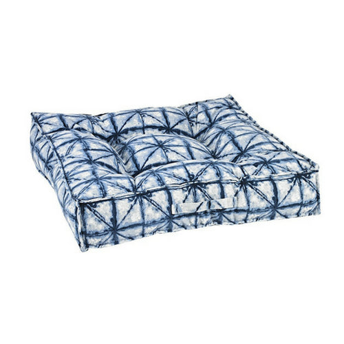 Bowsers MicroVelvet Tufted Square Piazza Nesting Dog Bed —Shibori