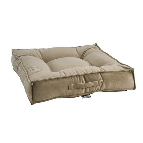 Bowsers MicroVelvet Tufted Square Piazza Nesting Dog Bed — Toffee