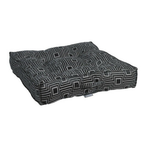 Bowsers Jacquard Tufted Square Piazza Nest Dog Bed — Twilight