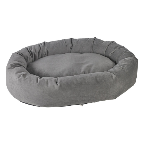 Bowsers Pet Roll-O Round Nesting Dog Bed — Ash MicroVelvet
