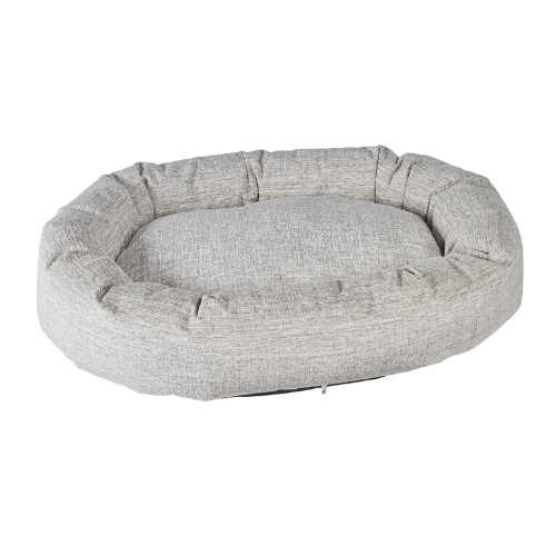 Bowsers Pet Roll-O Round Nesting Dog Bed — Dove Chenille