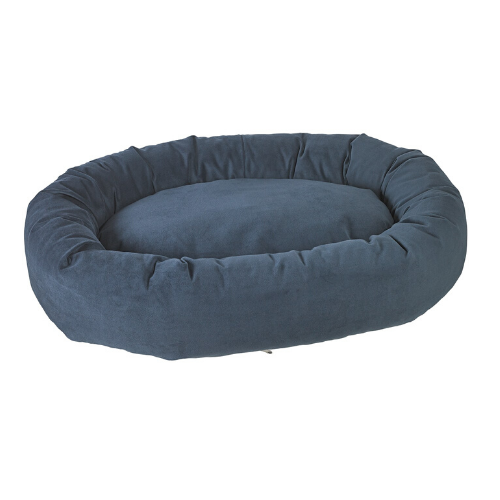 Bowsers Pet Roll-O Round Nesting Dog Bed — Navy MicroVelvet