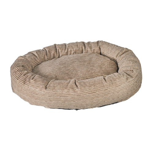 Bowsers Pet Roll-O Round Nesting Dog Bed — Wheat MicroCord