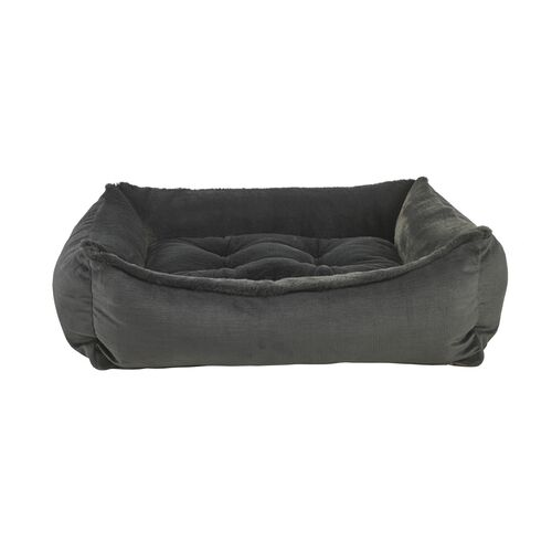 Bowsers Scoop Bolstered Nesting Dog Bed — Galaxy Dream Fur with Shale