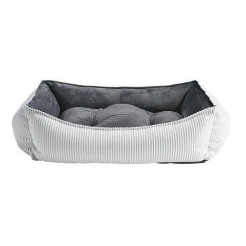 MicroCord Scoop Bolstered Dog Bed — Marshmallow
