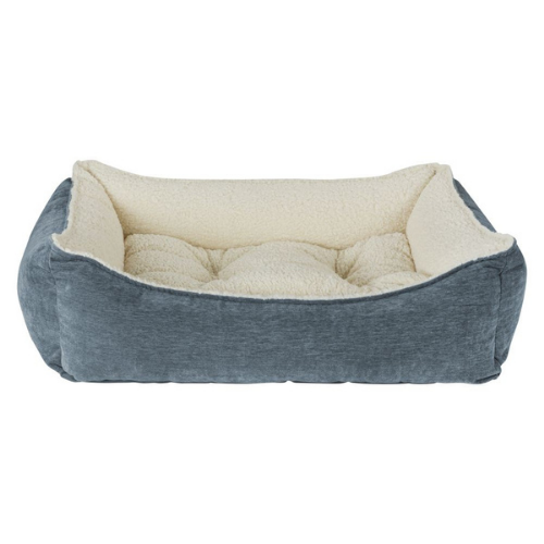 Bowsers Pet Scoop Bolstered Nesting Dog Bed — Chenille Mineral