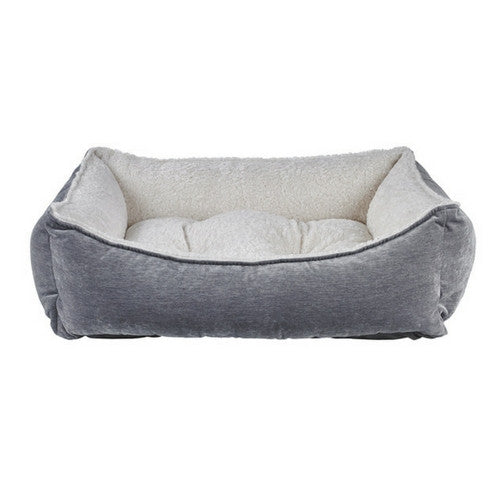 Bowsers Scoop Bolstered Nesting Dog Bed — MicroVelvet Pumice