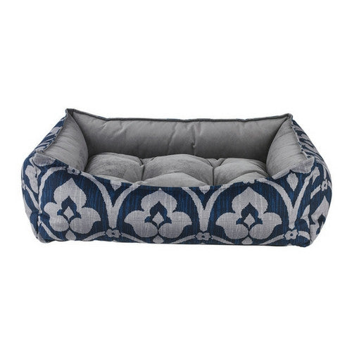 Bowsers Scoop Bolstered Nesting Dog Bed — MicroVelvet Regency / Dusk