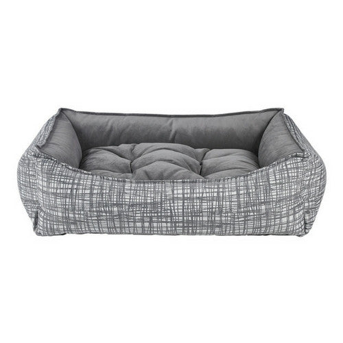 Bowsers Scoop Bolstered Nesting Dog Bed — Jacquard Tribeca / MicroVelvet Dusk