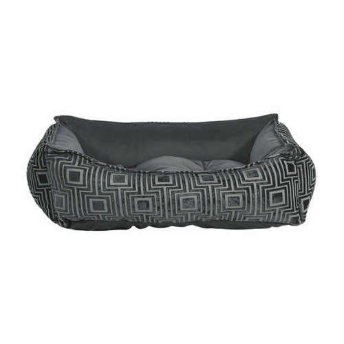 Bowsers Scoop Bolstered Nesting Dog Bed — Twilight Jacquard Ash MicroVelvet