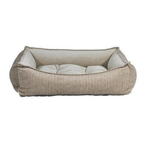 Bowsers Scoop Bolstered Nesting Dog Bed — Wheat MicroCord Almond MicroVelvet
