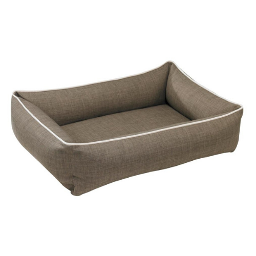 Bowsers MicroLinen Urban Lounger Rectangle Nest Dog Bed — Driftwood
