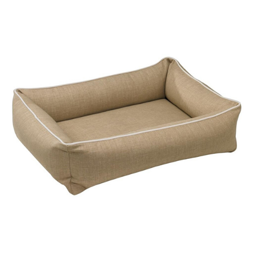 Bowsers MicroLinen Urban Lounger Rectangle Nest Dog Bed — Flax