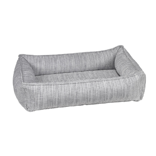 Bowsers Pet Chenille Urban Lounger Dog Nesting Bed — Glacier