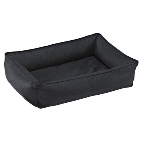 Bowsers Faux Leather Urban Lounger Rectangle Nest Dog Bed — Rodeo
