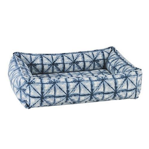 Bowsers MicroVelvet Urban Lounger Rectangle Nest Dog Bed — Shibori