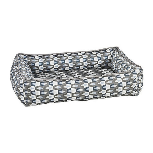 Bowsers Jacquard Urban Lounger Rectangle Nest Dog Bed — Titan